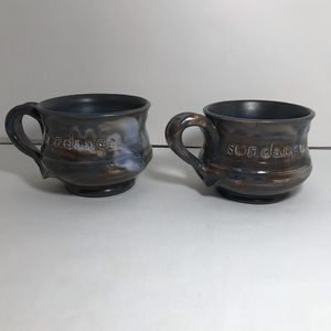 Sundance Pair Coffee Mugs Handcrafted Tom Rencher